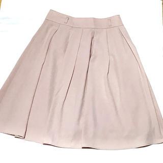 レストローズ(L'EST ROSE)のピンクベージュ フレアスカート(ひざ丈スカート)