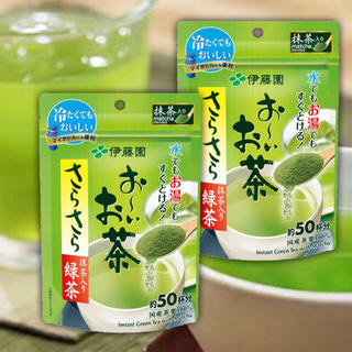 イトウエン(伊藤園)の【水出し可】伊藤園 おーいお茶 さらさら緑茶(40g×2袋)(茶)