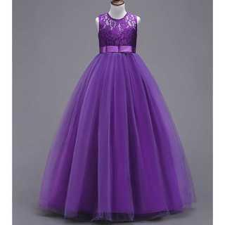 キッズドレス◆王女風◆パープル◆結婚式 発表会(ドレス/フォーマル)