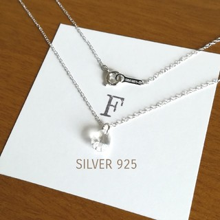 SILVER925 クリスタルネックレス 一粒ネックレス 一粒ダイヤネックレス(ネックレス)