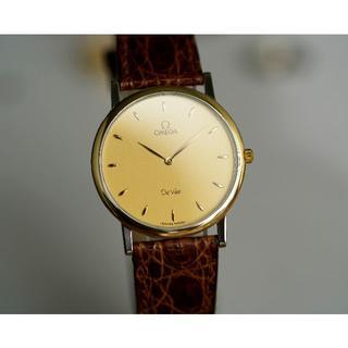 オメガ(OMEGA)の美品 オメガ デビル コンビ 18KYGベゼル メンズ Omega(腕時計(アナログ))