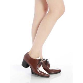 ムルーア(MURUA)の新品MURUA チャンキーヒールローファー/ブーティ /ムルーア ブラウン(ローファー/革靴)