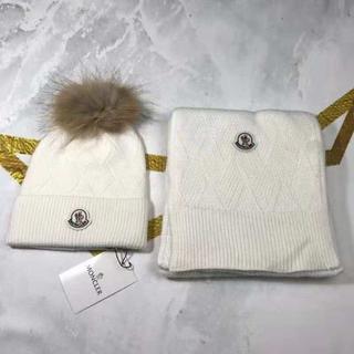モンクレール(MONCLER)の☆新品☆モンクレールニート帽子マフラーセット 男女兼用(キャップ)