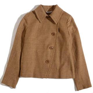 マックスマーラ(Max Mara)のマックスマーラ   グレンチェック  ショートコート   デザインジャケット(その他)