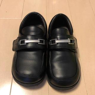 【美品】男の子 16cm ローファー フォーマルシューズ ブラック(フォーマルシューズ)