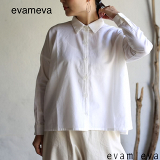 エヴァムエヴァ(evam eva)のevameva  コットンカシミアスクエアシャツ(シャツ/ブラウス(長袖/七分))
