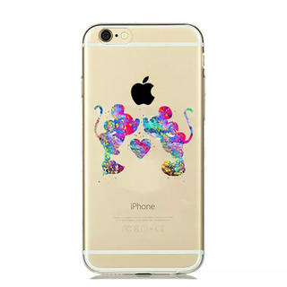 Disney - iPhone ケース ♡ 水彩 ミッキー&ミニー