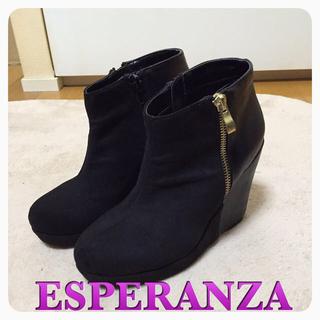 エスペランサ(ESPERANZA)のエスペランサ♡ウェッジソールブーツ(ブーツ)