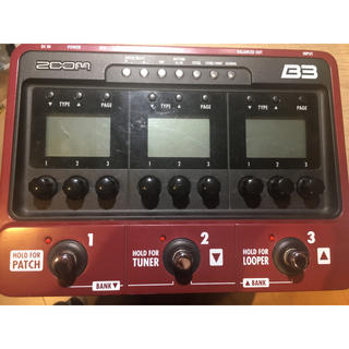 ZOOM B3 ベース マルチエフェクター(ベースエフェクター)
