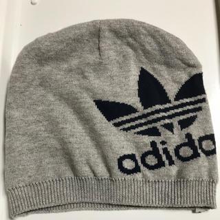 アディダス(adidas)のアディダス ニット帽 グレー(その他)