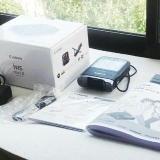 キヤノン(Canon)の箱有 りフルセット  Canon iVIS mini X  説明書付き(ビデオカメラ)