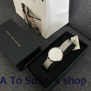 ダニエルウェリントン(Daniel Wellington)の年末のお値下げ中☆DW 28MM 時計 シルバー ホワイト(腕時計)