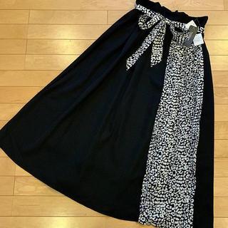 シマムラ(しまむら)のラスト1点‼️‼️‼️レオパード柄切り替えスカート(ロングスカート)