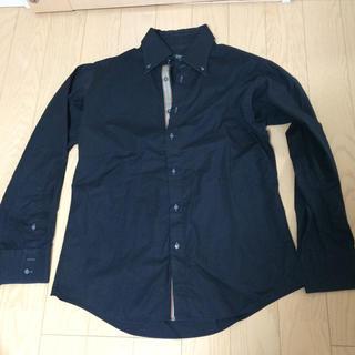 バーバリーブラックレーベル(BURBERRY BLACK LABEL)のバーバリーブラックレーベル メンズ 黒 ストレッチコットンシャツ(シャツ)
