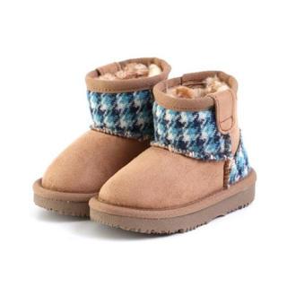 エフオーキッズ(F.O.KIDS)の新品 ハリスツイード 暖かい❣️ボアブーツ 13〜19センチ(ブーツ)