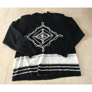 黒 x 白 デザイン ニット(ニット/セーター)