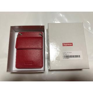 Supreme - Supreme Leather ID Holder + Wallet 赤