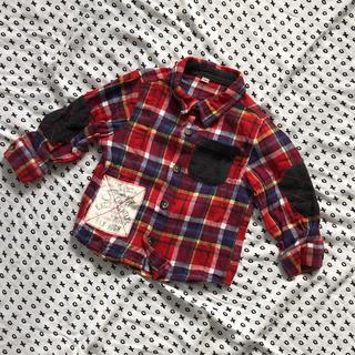 ニシマツヤ(西松屋)の80cm チェックシャツ(シャツ/カットソー)