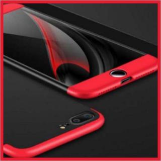 iPhone7 ケース 全面保護 フルカバー 耐衝撃 保護 赤 黒