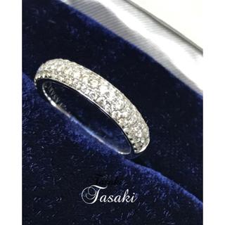 タサキ(TASAKI)のTAZAKI マイクロパヴェリング ダイヤモンド18Kホワイトゴールド(リング(指輪))
