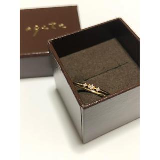 アガット(agete)のagete アガット K10 0.03 ダイヤモンドリング 10号(リング(指輪))