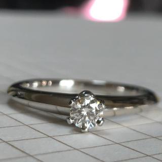 ティファニー(Tiffany & Co.)のティファニー  Tiffany&Co PT ソリティア ダイヤ リング(リング(指輪))