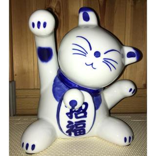 幸せこっち来〜い❣️和モダン招き猫❣️送料無料❣️(置物)