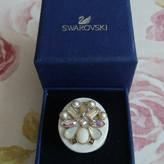 スワロフスキー(SWAROVSKI)のSWAROVSKI ホワイト系リング スワロフスキー(リング(指輪))
