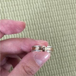 ピンクゴールド+シルバー+ダイヤ  リング(リング(指輪))