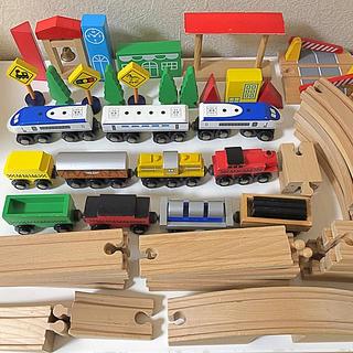 木のおもちゃ 電車・レールセット(電車のおもちゃ/車)