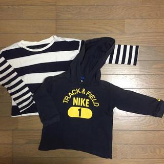 ナイキ(NIKE)の▷used▷長袖Tシャツ 2枚 90 NIKE baby gap(Tシャツ/カットソー)