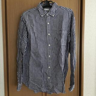 ジーユー(GU)のGU ジーユー チェック 長袖 シャツ メンズ L トップス 男女兼用(シャツ)