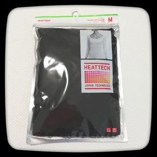 ユニクロ(UNIQLO)のユニクロ ヒートテック バレエネックT 8分袖/Mサイズ/ブラック(アンダーシャツ/防寒インナー)