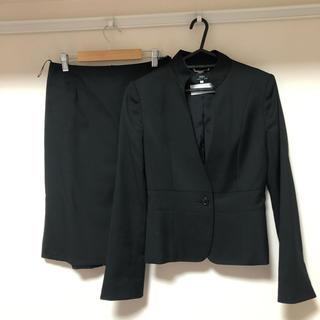 イネド(INED)のイネド スカートスーツ ノーカラー サイズ9(スーツ)
