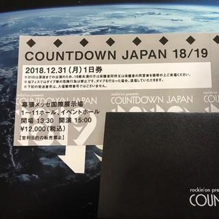 カウントダウンジャパン18/19 12月31日 1枚(音楽フェス)