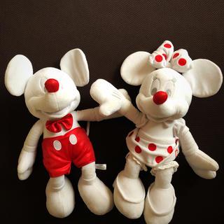 Disney - ミッキー、ミニーマウスぬいぐるみ