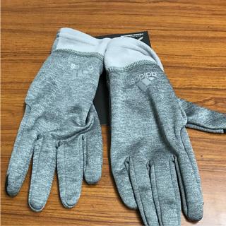 アディダス(adidas)のアディダス 手袋 グレー(手袋)
