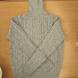 無印良品 タートルネックセーター(ライトグレー)Mサイズ