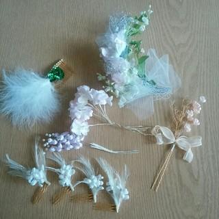 髪飾り 結婚式 ウエディング(ヘアアクセサリー)