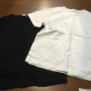ジーユー(GU)のGU白黒Tシャツ150(Tシャツ/カットソー)