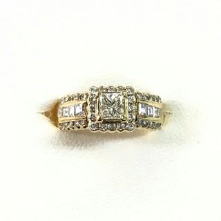 鑑定書付き❗❗天然ダイヤモンドのイエローゴールドリング(リング(指輪))