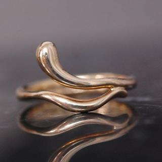 ティファニー(Tiffany & Co.)のTIFFANY&Co. ティファニー リング 9号 ウェーブ 波 K18 YG (リング(指輪))