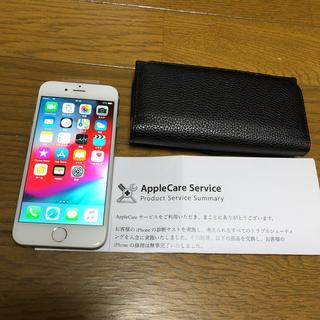 アイフォーン(iPhone)の美品 iPhone6 シルバー  中古  docomo  バッテリー交換済み(スマートフォン本体)