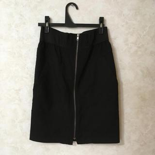 ZARA - 【価格交渉可】 ZARA ジップ タイトスカート 膝丈  黒