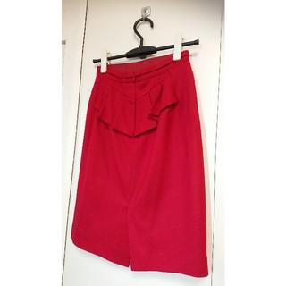 JUSGLITTY - ♡ジャスグリッティー ♡ウール100%バックフリルタイトカート赤♡サイズ1