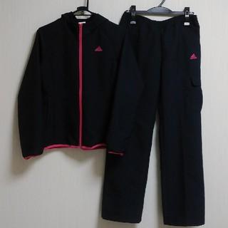 アディダス(adidas)の【美品!】adidas アディダス レディース パーカー 上下 濃紺×ピンク M(セット/コーデ)