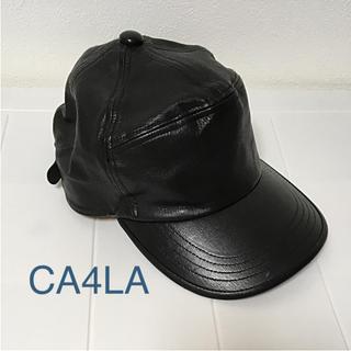 カシラ(CA4LA)の✴︎カシラ キャップ レザー 牛革(キャップ)