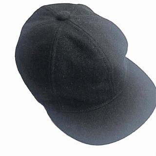 カシラ(CA4LA)の美品  CA4LA(カシラ) ウール WOOL ベスボールキャップ 黒(キャップ)
