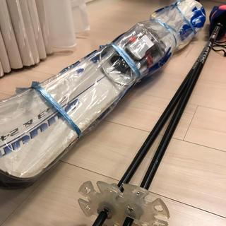 スキー ストック スキー板 ブーツ ゴーグル セット バンダナ(板)