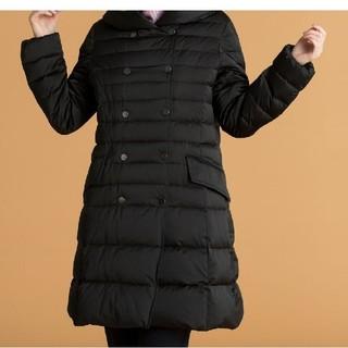 ジユウク(自由区)の2018年モデル 自由区 タフタサテンロングコート 42サイズ☆ブラック(ダウンコート)